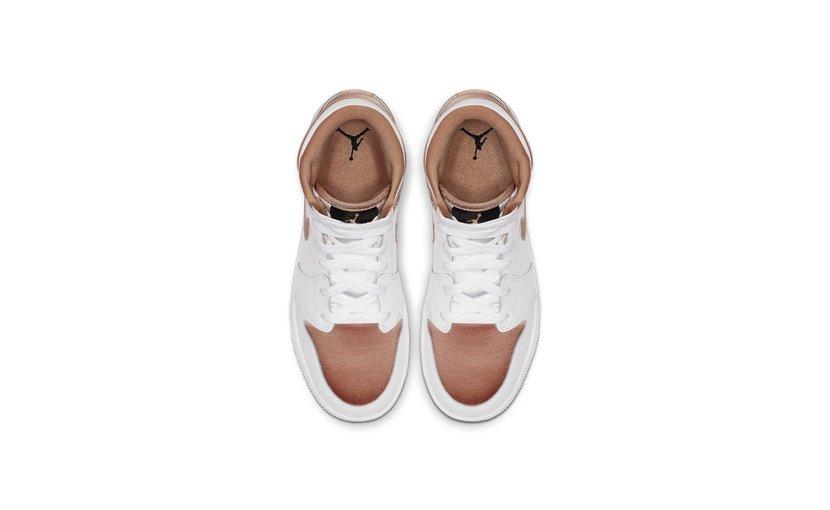 Jordan Air Jordan 1 Mid 'White Rose Gold' (GS)