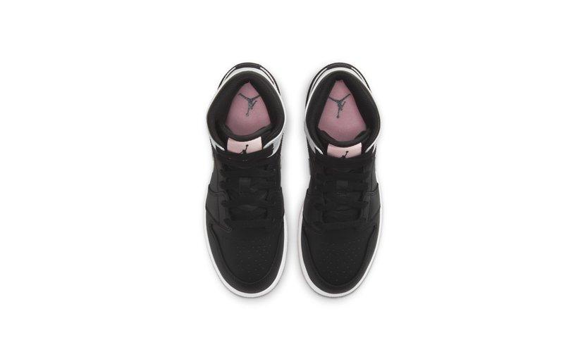 Jordan Air Jordan 1 Mid 'Black Arctic Pink' (GS)