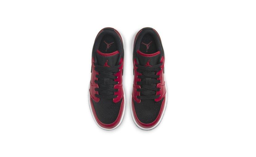 Jordan Air Jordan 1 Low 'Gym Red Black Pebbled' (GS)