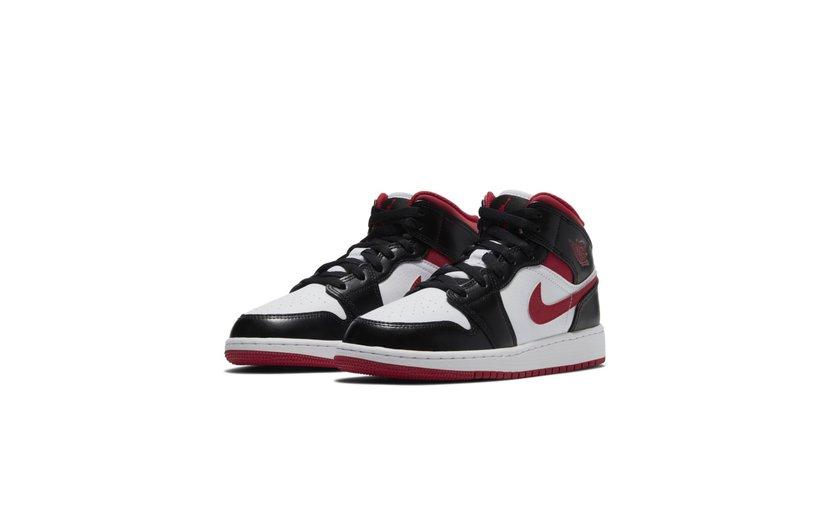 Jordan Air Jordan 1 Mid 'Gym Red Black White' (GS)