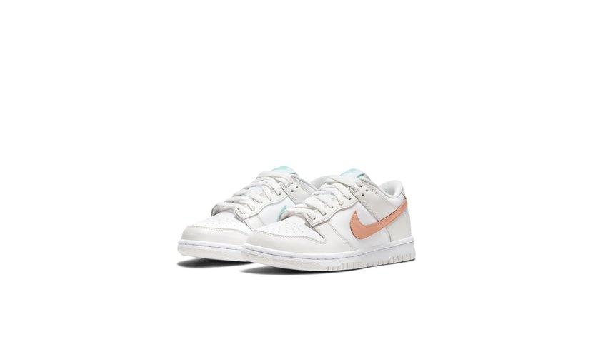 Nike Dunk Low 'White Bone Peach Aqua' (GS)