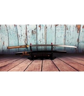 Samurai zwaard bruine ito en damast staal