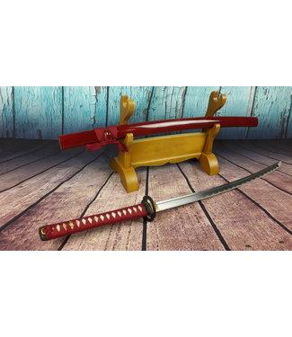 Samurai zwaard met rode saya (m)