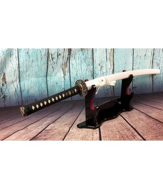 Damast staal samurai zwaard wit (N)
