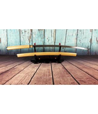 Shirasaya zwaard gebogen hout kleur
