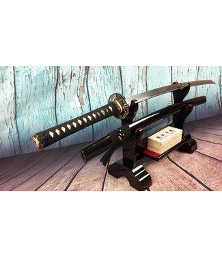 Damast staal samurai zwaard zwart (N)