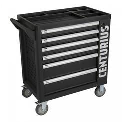 Chariot à outils Centurius avec 6 tiroirs + armoire de rangement - vide