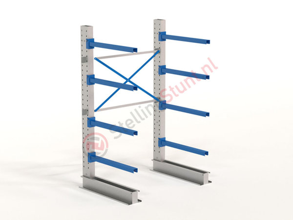 Draagarmstelling Basisvak Enkelzijdig 2432x1500x1000mm (hxbxd)