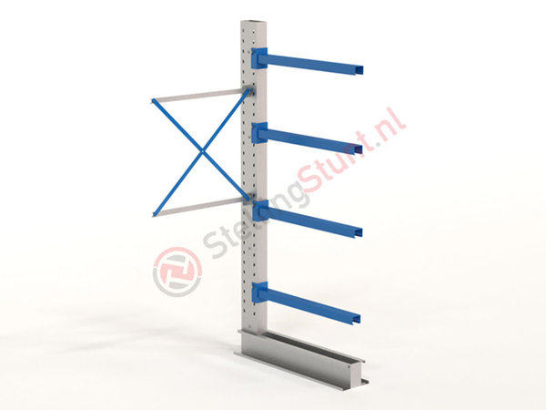 Draagarmstelling Aanbouwvak Enkelzijdig 2432x1000x1000mm (hxbxd)