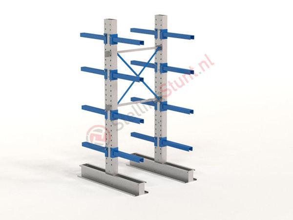 Draagarmstelling Basisvak Dubbelzijdig 2432x1000x600mm (hxbxd)