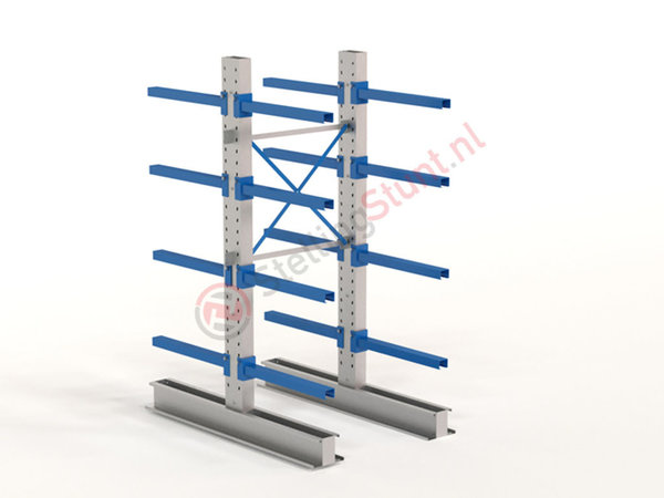Draagarmstelling Basisvak Dubbelzijdig 2432x1000x800mm (hxbxd)