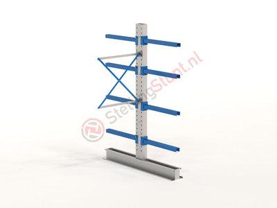 Draagarmstelling Aanbouwvak Dubbel 2432x1000x800mm (hxbxd)