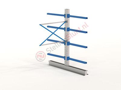 Draagarmstelling Aanbouwvak Dubbel 2432x1500x1000mm (hxbxd)
