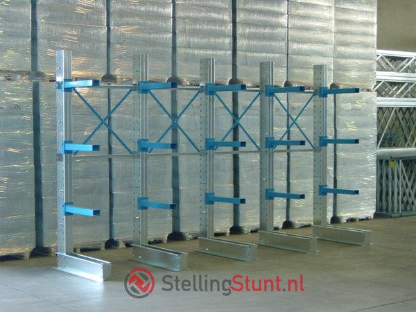 Draagarmstelling Aanbouwvak Dubbelzijdig 2432x1500x600mm (hxbxd)