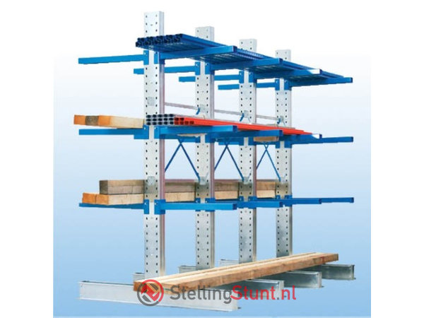 Draagarmstelling Aanbouwvak Dubbelzijdig 2964x1500x600mm (hxbxd)