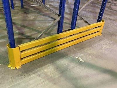 Aanrijdbeschermer JH 2500x400mm geel