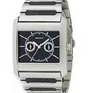 DKNY Watch strap DKNY 20 mm donkerbruin glad
