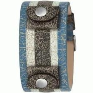 Fossil JR Watch strap JR-8372 blue stripe