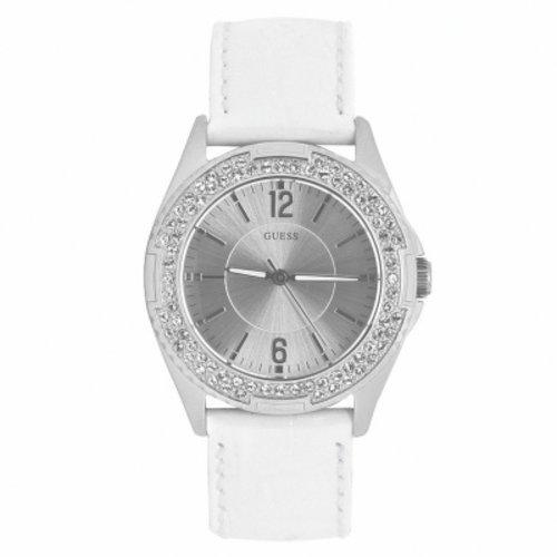 Guess Watch Strap W0069L1 Rock Candy White Leather - 20mm