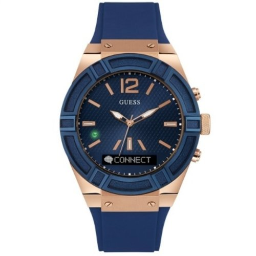 Guess Watch Band Guess Connect C0001G1 Rigor Smart Blue Rubber