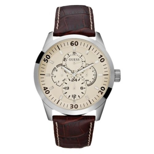 Guess Watch Band Guess W95046G1 Brown Leather