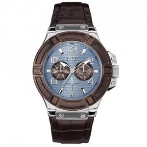 Guess Watch Band Guess W0040G10 Rigor Brown