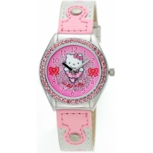 Hello Kitty Horlogeband Hello Kitty  white pearl