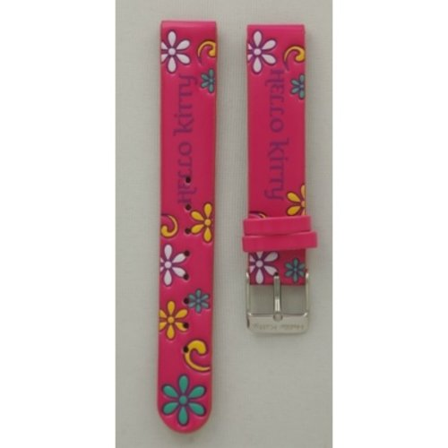 Hello Kitty Watch strap Hello Kitty Fuchsia flowers all over