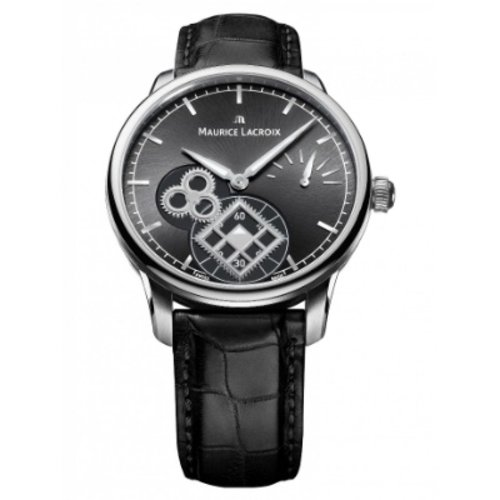 Maurice Lacroix Watch Strap Maurice Lacroix Masterpiece 20mm Black