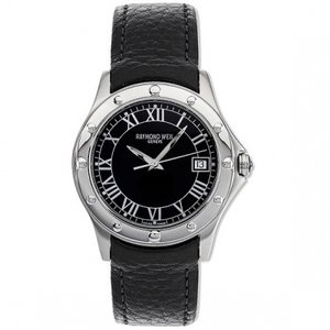 Raymond Weil Watch Band Raymond Weil Tango 5590-STC-00200 Black Leather 20mm