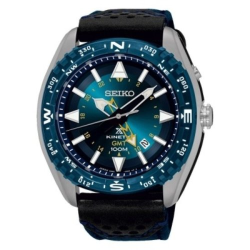 Seiko Watch Band SUN059P1 Seiko Prospex Kinetic GMT SUN059 Blue