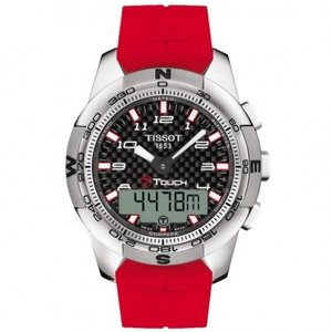 Tissot Horlogeband T-Touch Rubber Rood T047.420.47.207.02 - T610035317 - 21mm