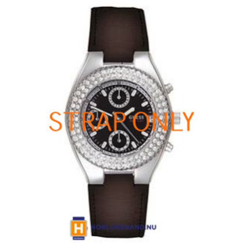 Guess Watch Strap I15059L1 Guess Swarovski black - without clasp