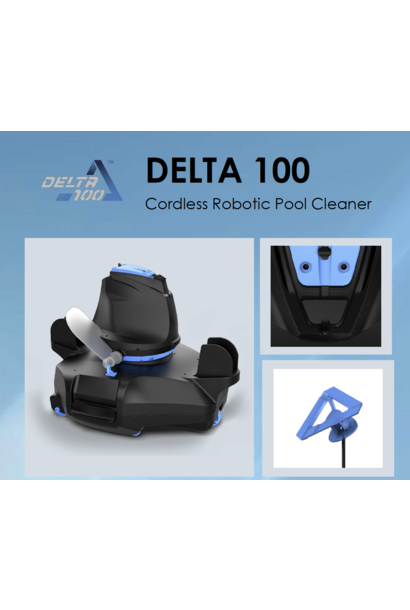 Delta 100 cordless automatic swimming pool vacuum cleaner robot