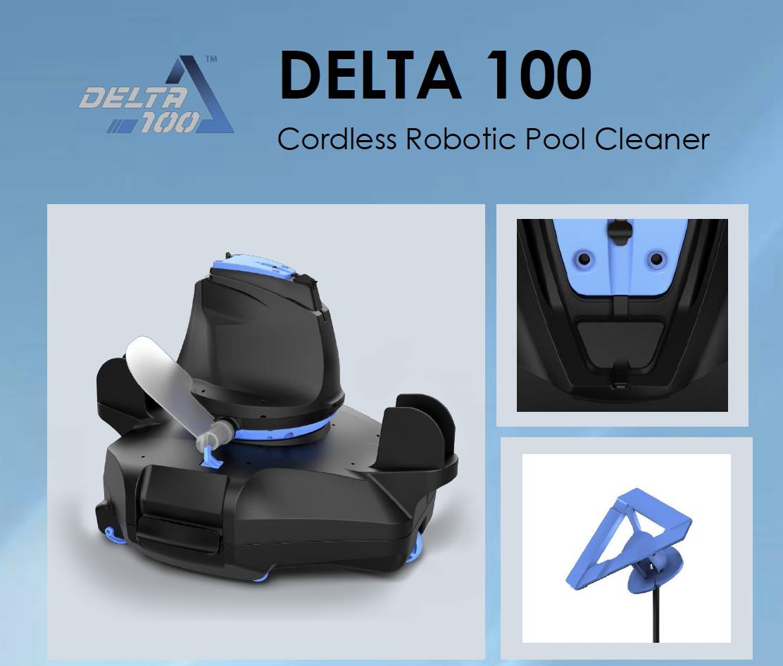 Robot aspirateur automatique sans fil Kokido Delta 100 pour piscine-1