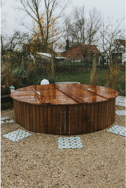 Houten cover in thermowood (deksel)