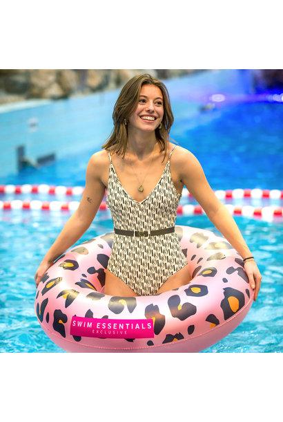 Panterprint zwemband Rosé goud