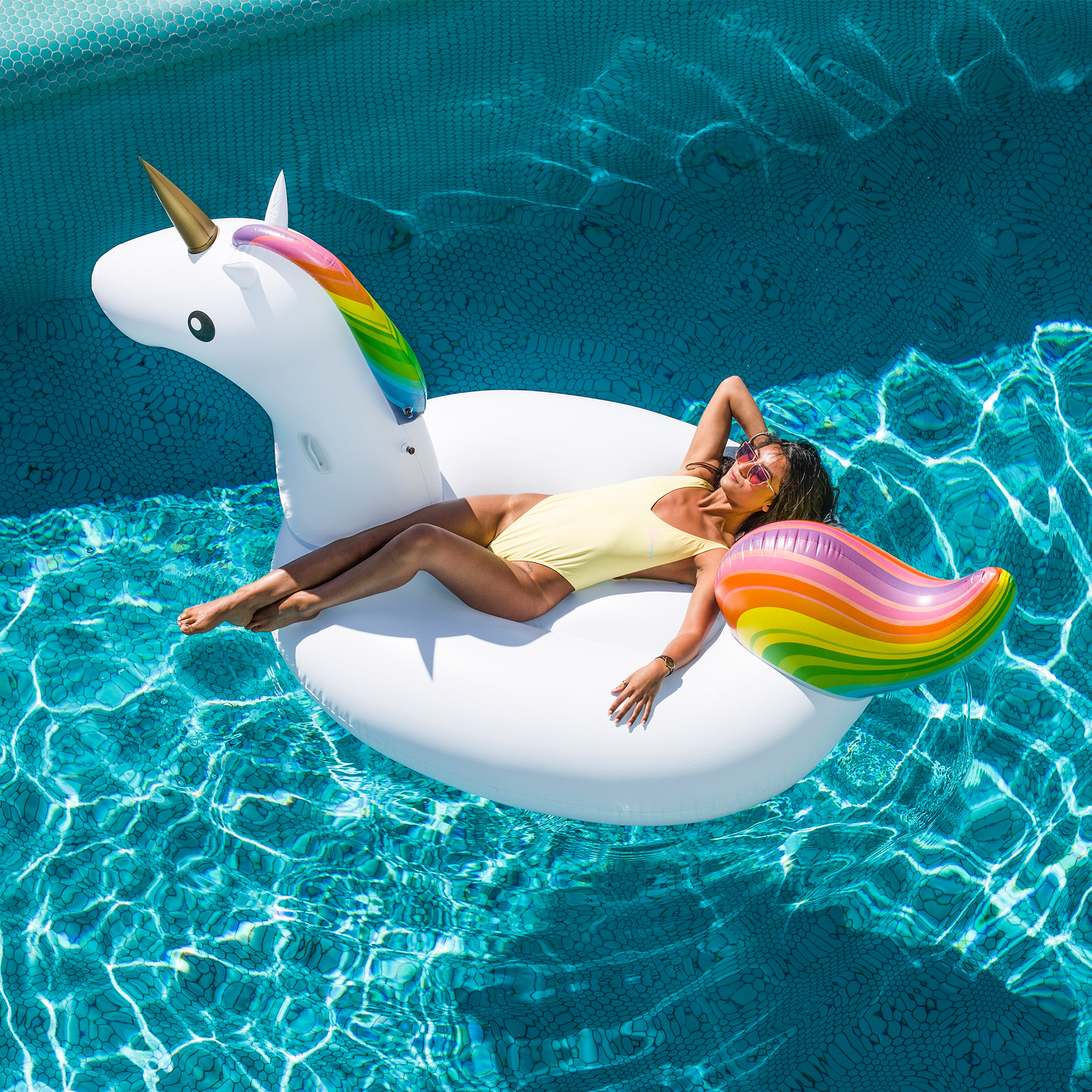 Swim Essentials Inflatable Unicorn XXL White-2