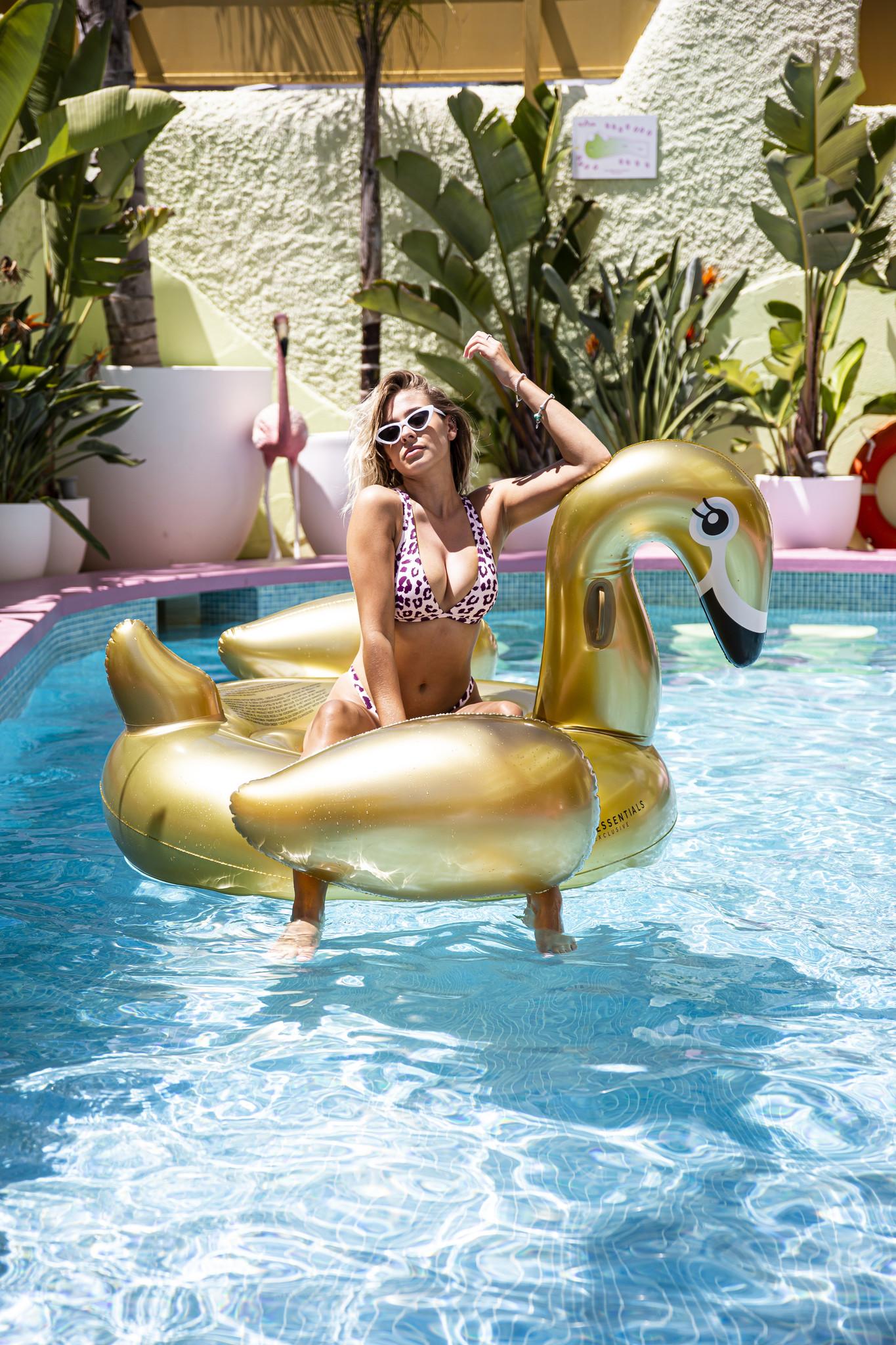 Swim Essentials Inflatable Swan XXL Gold-3