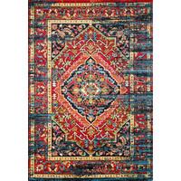 Vintage Marrakech Vloerkleed Zwart / Multi Laagpolig