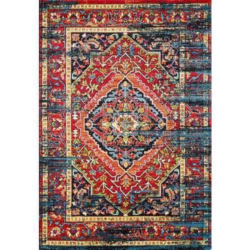 Vintage Vintage Marrakech Vloerkleed Zwart / Multi Laagpolig