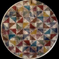 Picasso Sahra Vintage Rond Vloerkleed Multi Laagpolig