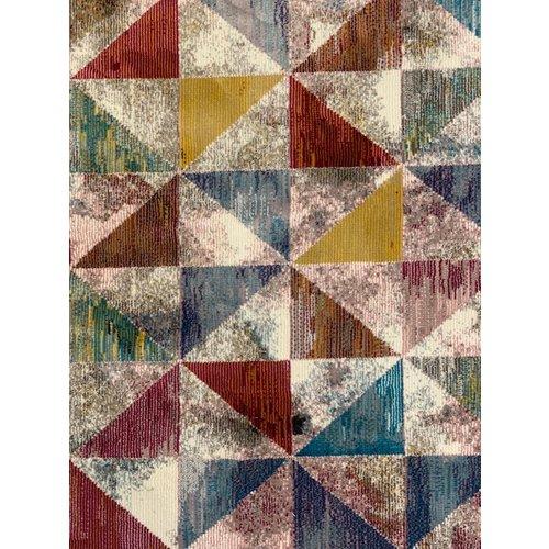Picasso Picasso Sahra Vintage Rond Vloerkleed Multi Laagpolig