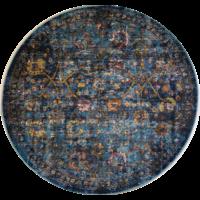 Picasso Sarough Vintage Rond Vloerkleed Blauw Laagpolig