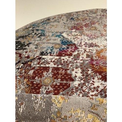 Picasso Picasso Feraghan Vintage Rond Vloerkleed Multi / Beige Laagpolig