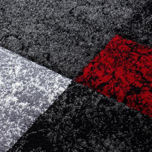 Hawaii Hawaii Vloerkleed Zwart / Rood Laagpolig