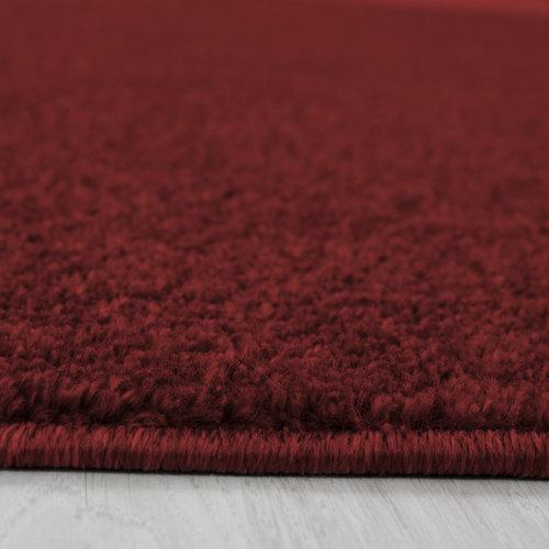 ATA Basics Effen Vloerkleed Rood Laagpolig