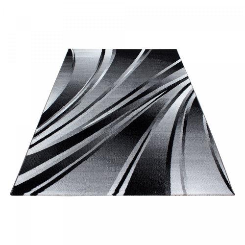 Parma Parma Design Vloerkleed Zwart / Grijs Laagpolig