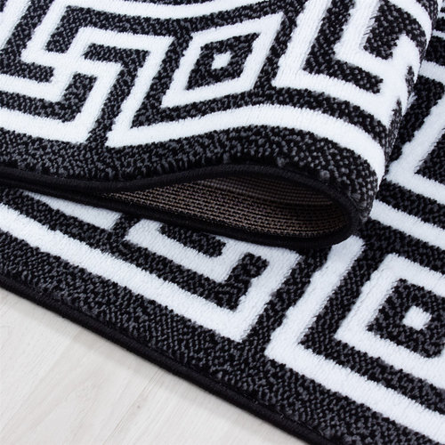 Parma Parma Design Vloerkleed Zwart / Wit Laagpolig