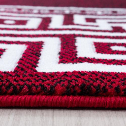 Parma Parma Design Vloerkleed Rood / Wit Laagpolig
